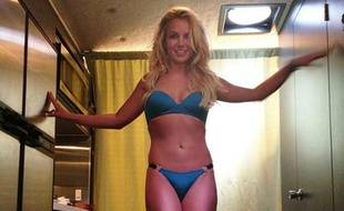 Britney Spears sur le tournage de son clip «Work Bitch».