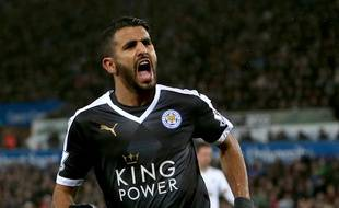 Riyad Mahrez, milieu de terrain de Leicester le 5 décembre 2015