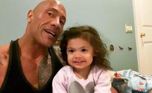 L'acteur Dwayne Johnson avec sa fille Tia, sur Instagram