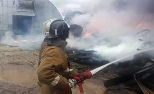 Des pompiers russes