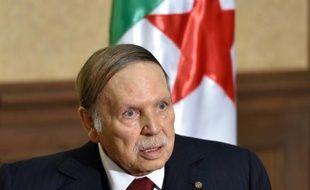 Le président algérien Abdelaziz Bouteflika, le 10 avril 2016 à Zeralda près d'Alger