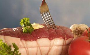 Un rôti de bœuf. Illustration.