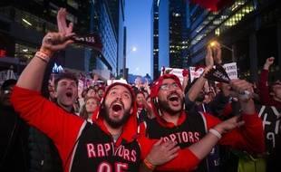 Des supporters des Raptors, à Toronto.