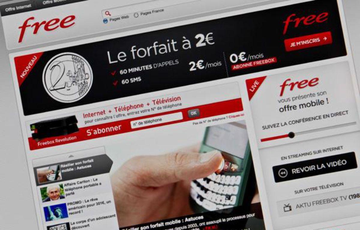 Free Mobile a lancé ses offres le 10 janvier 2012 – PRM/SIPA