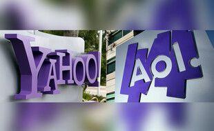 Les logos de Yahoo et AOL (illustration).