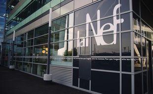Façade de la Nef,  coopérative de finances solidaires dont le siège social se trouve à siège social à Vaulx-en Velin.