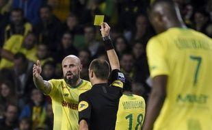 Nicolas Pallois, absent à Brest samedi, est moins tranchant depuis un mois.