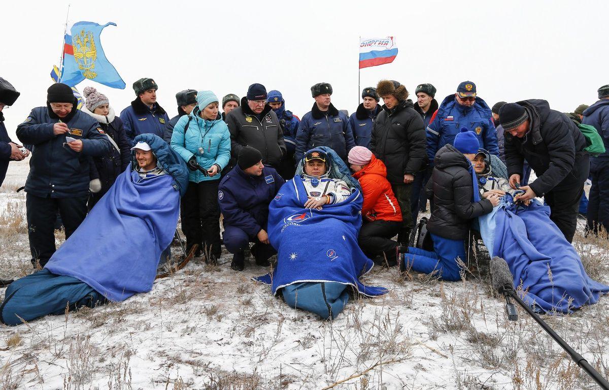 Le retour de trois spationautes ce lundi 10 novembre 2014 – SHAMIL ZHUMATOV / POOL / AFP
