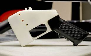 Un pistolet imprimé en 3D (illustration).