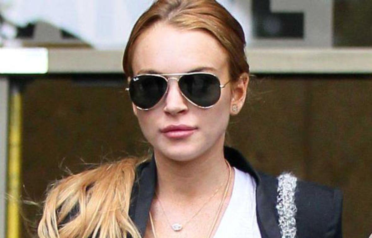 Lindsay Lohan sortant du tribunal à Los Angeles, le 22 octobre 2010 – WORLDSCOOP / SIPA