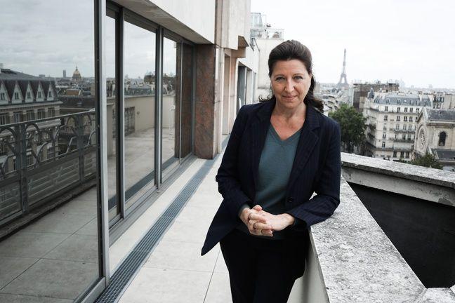 Agnès Buzyn, candidate (LREM) à la mairie de Paris, le 9 juin 2020, sur le toit de son QG.