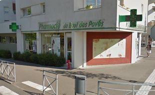 La pharmacie visée par le casse-bélier dans la nuit de dimanche à lundi à Orvault.