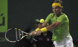 Rafael Nadal, lors de son match face à Roger Federer, le 1 avril à Miami