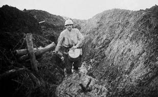 Les Eparges 1915. Boyau dans la boue. Premiere Guerre Mondiale (1914-1918)