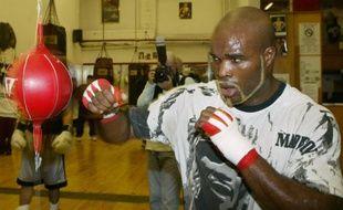 Le boxeur français Jean-Marc Mormeck, à l'entraînement le 3 janvier 2006 à New York.