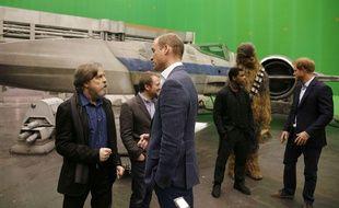 Le Prince William et le Prince Harry à la rencontre des héros de «Star Wars»