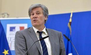 Le ministre de l'Agriculture Stéphane Le Foll à Paris le 14 avril 2015