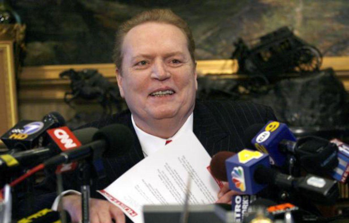 Larry Flynt, fondateur de la revue «Hustler», en conférence de presse à Beverly Hills, le 11 juillet 2007. – GUS RUELAS / Reuters