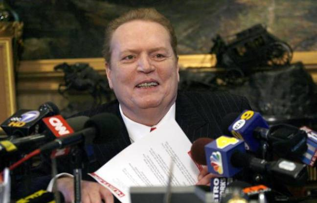 Larry Flynt, fondateur de la revue «Hustler», en conférence de presse à Beverly Hills, le 11 juillet 2007.