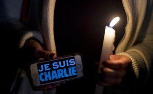 Manifestation de soutien à Mexico après la tuerie qui a frappé le journal satirique Charlie Hebdo à Paris, le 9 janvier 2015