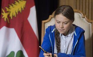 Greta Thunberg à Montréal, le 27 septembre 2019.