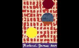 L'affiche du tournoi de Roland-Garros 2014