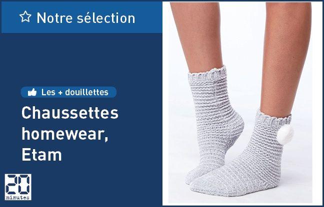 Chaussettes homewear à pompons Charlotte, Etam