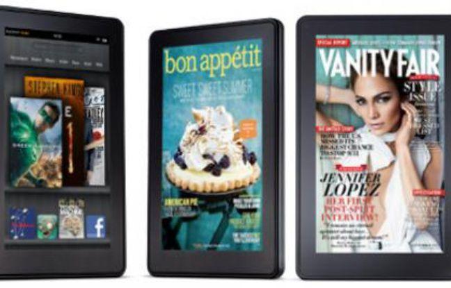 Le Kindle Fire, une tablette de 7 pouces dévoilée par Amazon le 28 septembre 2011.