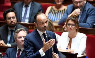 Edouard Philippe répond aux questions des députés après les révélations de l'affaire Benalla, le 24 juillet 2018.