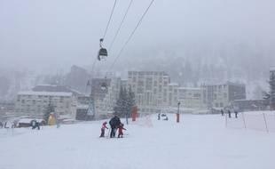 Entre 40 et 50 cm de neige sont tombés la nuit dernière dans la station d'Isola 2000.