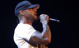 Le rappeur Booba, de son vrai nom Elie Yaffa en concert dans la salle