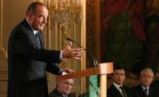 Jacques Chirac plaide à l'Élysée pour l'intégration des personnes en situation de handicap, en 2005.
