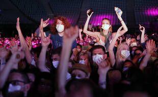 Quelque 5.000 personnes ont assisté au concert-test d'Indochine, donné à Bercy le 29 mai 2021.