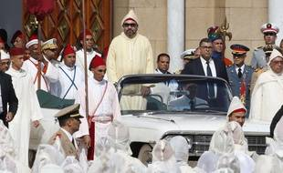 Le roi du Maroc Mohammed VI à Tetouan le 31 juillet 2018.