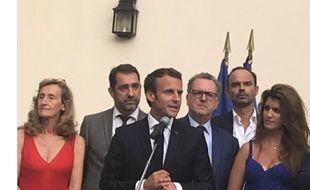 Emmanuel Macron, mardi 24 juillet, devant les députés de sa majorité à la maison de l'Amérique latine.