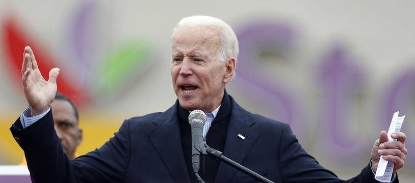 L'ancien vice-président Joe Biden est allé soutenir des ouvriers près de Boston, le 18 avril 2019.