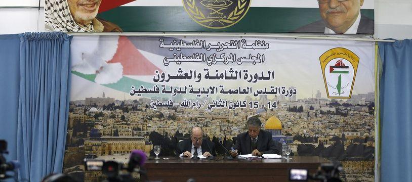 Une réunion de deux jours du Conseil central de l'OLP à Ramallah, en Cisjordanie, s'est conclue le 16 janvier 2018.