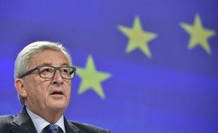 Le président de la Commission européenne Jean-Claude Juncker lors d'une conférence de presse à Bruxelles, le 29 juin 2015