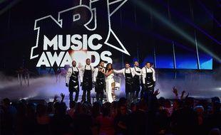 Shy'm, sur le plateau de la 16e cérémonie des NRJ Music Awards.