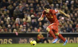 Luis Suarez lors du match entre Liverpool et Norwich en décembre 2013.