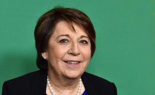 Corinne Lepage, presidente de Cap21, Rassemblement Citoyen, soutien d'Emmanuel Macron,  22 février 2017 à Paris