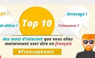 Top 10 des mots d'internet que vous allez oser dire en français.