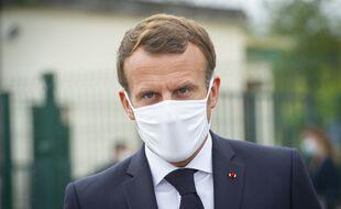Emmanuel Macron, à Longjumeau le 23 septembre 2020.