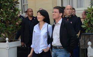 La ministre de la Culture Fleur Pellerin et le Premier ministre Manuel Valls, le 21 juin 2015 à Matignon.