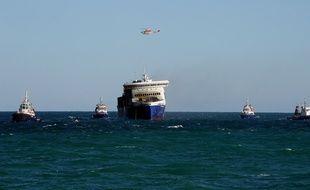 Le ferry Norman Atlantic est arrivé vers midi dans le port italien de Brindisi