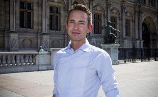 Ian Brossat, président du groupe communiste, élu du parti de gauche et candidat à la mairie de Paris, le 5 septembre 2013.