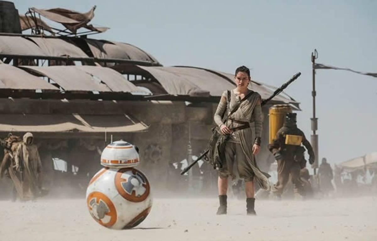 L'actrice Daisy Ridley dans «Star Wars 7». – Lucasfilm Ltd.