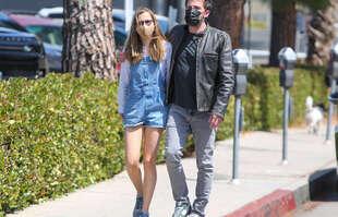 Ben Affleck et Violet Affleck, le 22 mai 2021, à Los Angeles.