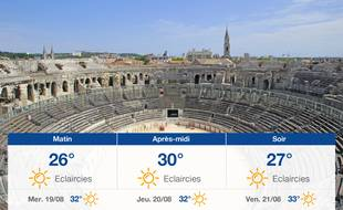 Météo Nîmes: Prévisions du mardi 18 août 2020
