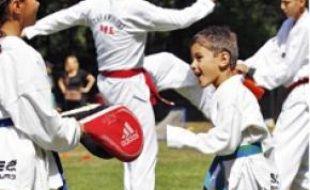 Belle démo de taekwondo, hier.